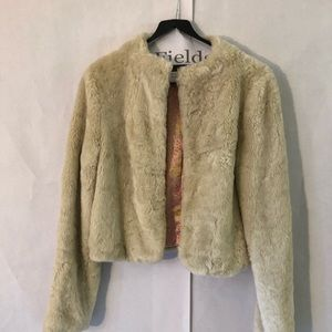 Old navy Faux Fur Cream Jacket